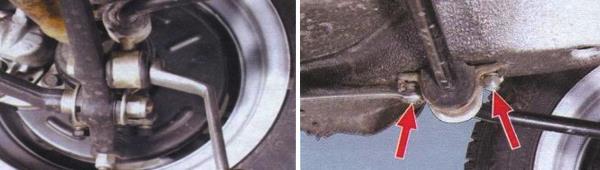 Как снять стабилизатор поперечной устойчивости ваз 21099