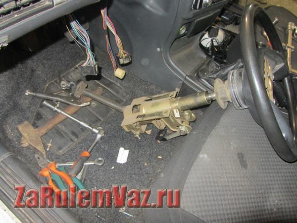 снятие и установка рулевой колонки на ВАЗ 2114 и 2115