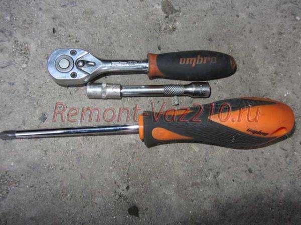 инструмент для снятия фары на ВАЗ 2110-2112
