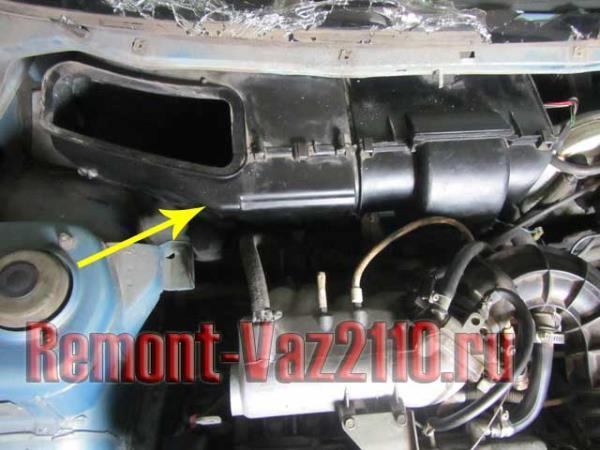 корпус печки на ВАЗ 2110 - как добраться