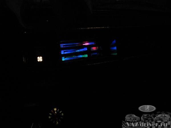 Подсветка выключателя печки ВАЗ-2107