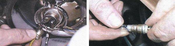 замена ламп передних габаритных огней ваз 2108