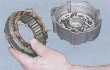 Снимаем статор генератора на ВАЗ 2108, 2109, 21099