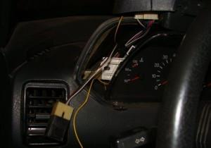 На фото - разъем для кнопки включения ПТФ на ВАЗ-2114, лада2111.рф