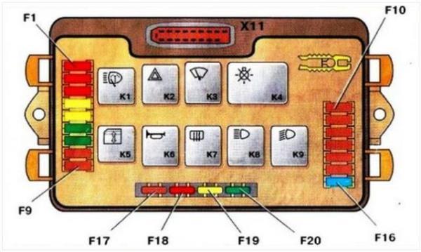 Электросхема компонентов устройства