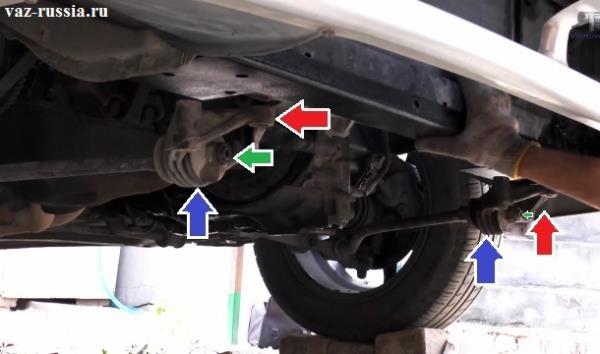 Местонахождение крабов и растяжек которые они держат в автомобиле