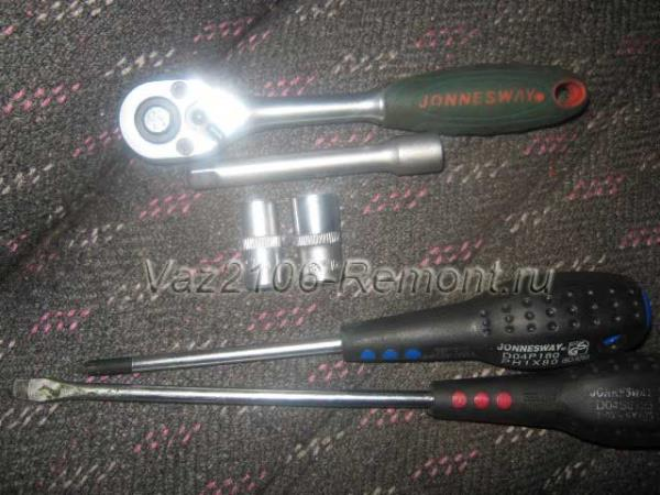 инструмент для замены радиатора печки на ВАЗ 2106