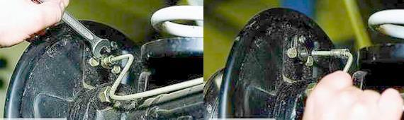 Снятие заднего тормозного цилиндра Нива 2121 2131