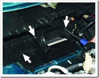Снятие и установка радиатора печки на ВАЗ 2110