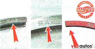 Маслосъемное кольцо и верхнее компрессионное кольцо устанавливаем надписями «ТОР», «ВАЗ» или другой вверх