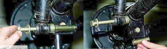 Как снять задние амортизаторы Нива 2121 2131