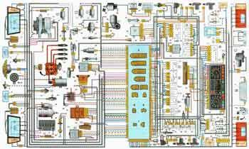 Схема электропроводки ВАЗ-21093, ВАЗ-21099