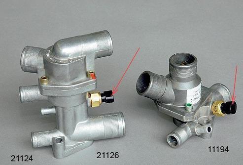 применяемости термостатов с различных двигателей 21124 и 21126