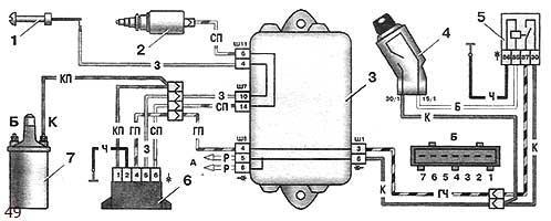 Система управления электро-магнитным клапаном карбюратора