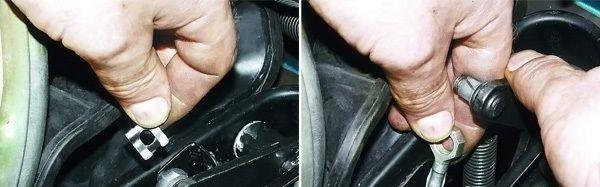 замена тросика сцепления авто ВАЗ 2110