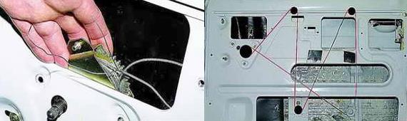 Установка механизма стеклоподъемника Нива 2121 2131