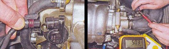 проверка датчика дроссельной заслонки ваз 2107