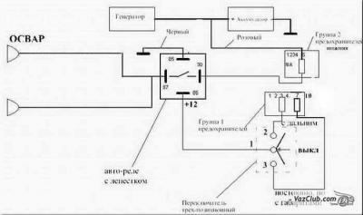 Как подключить реле ВАЗ