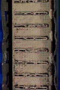 Вид радиатора автомобиля при использование тосола