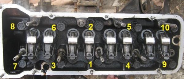 порядок затяжки болтов ГБЦ на ВАЗ 2107-2101