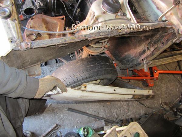 замена передних крыльев на ВАЗ 2109-2108