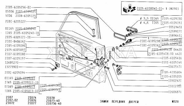 ВАЗ 21074 замки дверей
