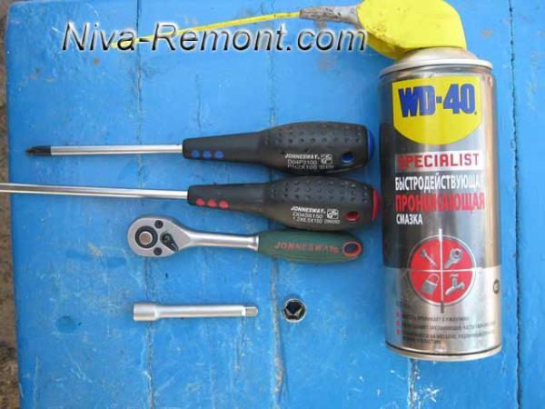 инструмент для снятия радиатора на Ниве ВАЗ 2121