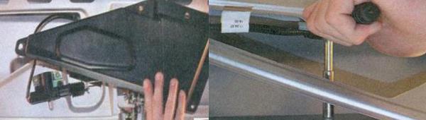 Замена фонаря освещения номерного знака Лада Приора