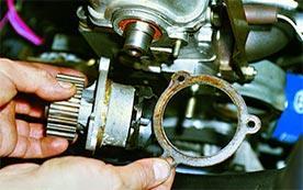 Замена помпы на автомобилях ВАЗ