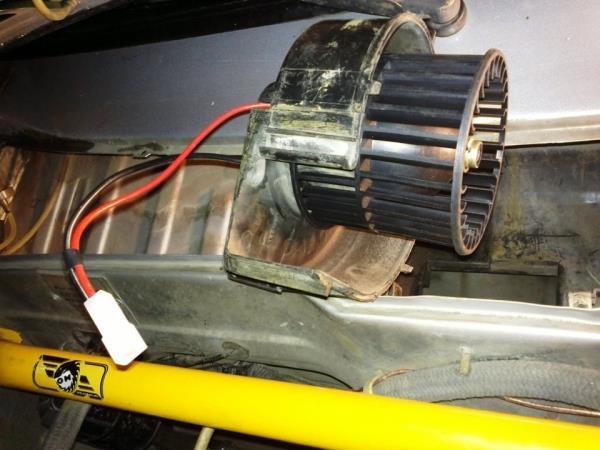 Демонтаж мотор-вентилятор