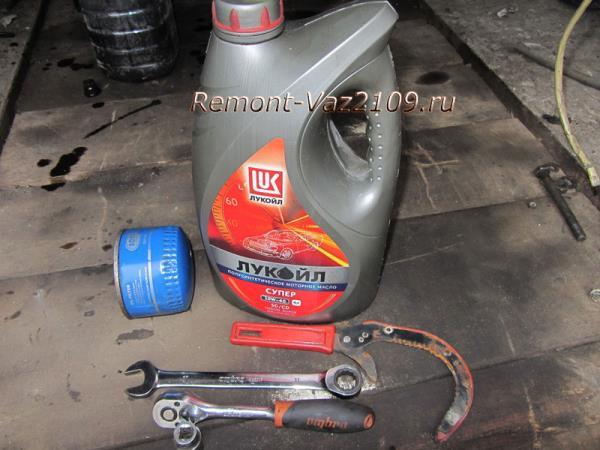 инструмент для замены моторного масла в двигателе ВАЗ 2109-2108