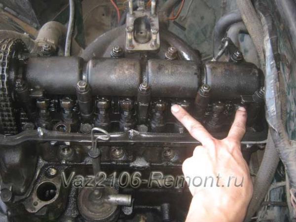 6-ой и 8-ой клапаны на ВАЗ 2106