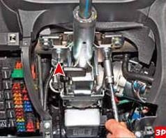 Размещение гаек заднего крепления рулевой колонки Лада Гранта (ВАЗ 2190)