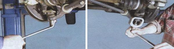 Как снять рычаг передней подвески ваз 21099
