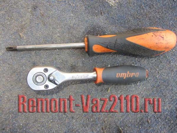 необходимый инструмент для замены прокладки клапанной крышки ВАЗ 2110-2112