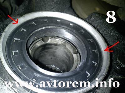 Как правильно установить сальник привода передних колес на авто ваз-2110