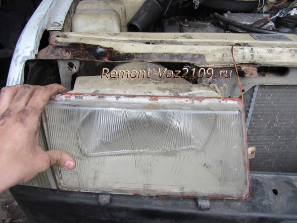 как снять переднюю фару на ВАЗ 2109-2108