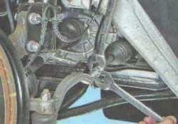 Замена наконечника рулевой тяги Лада Ларгус