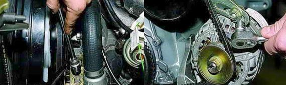 Замена ремня привода насоса охлаждения Нива 2121 2131