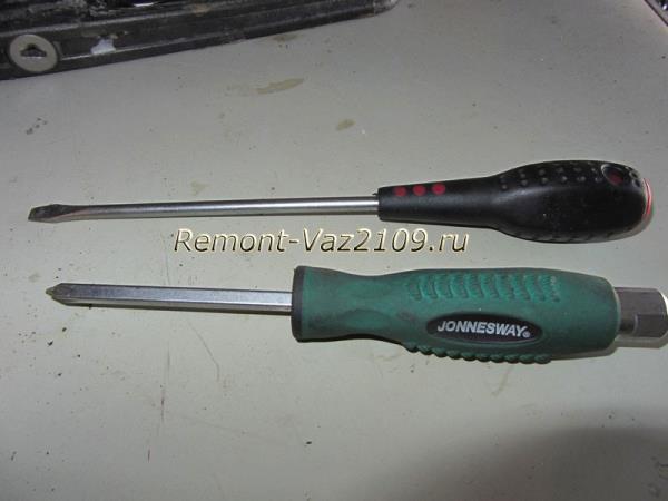 инструмент для замены радиатора печки на ВАЗ 2109-2108