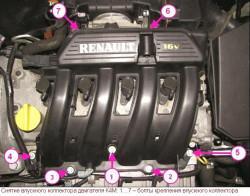 Снятие и установка головки цилиндров автомобиля Renault Megane II