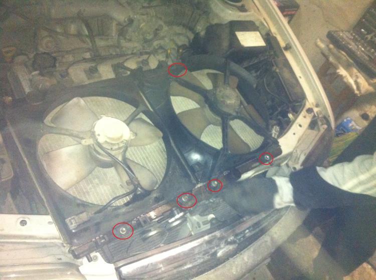 замена радиатора охлаждения ДВС toyota corona