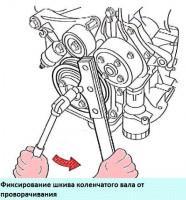 Замена сальников коленвала двигателя 2AZ-FE Toyota Camry
