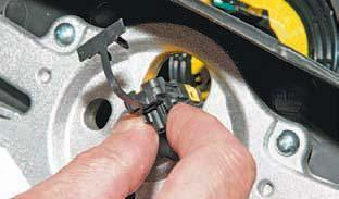 Снятие рулевого колеса Шевроле Ланос