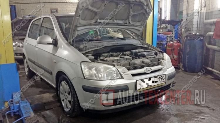 замена радиатора охлаждения Hyundai Getz