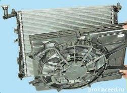 замена вентилятора радиатора
