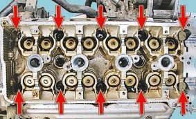 Расположение болтов головки блока Nissan Cashcai