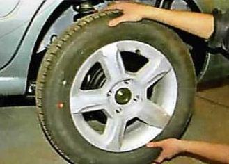 Снятие колеса Nissan Cashcai