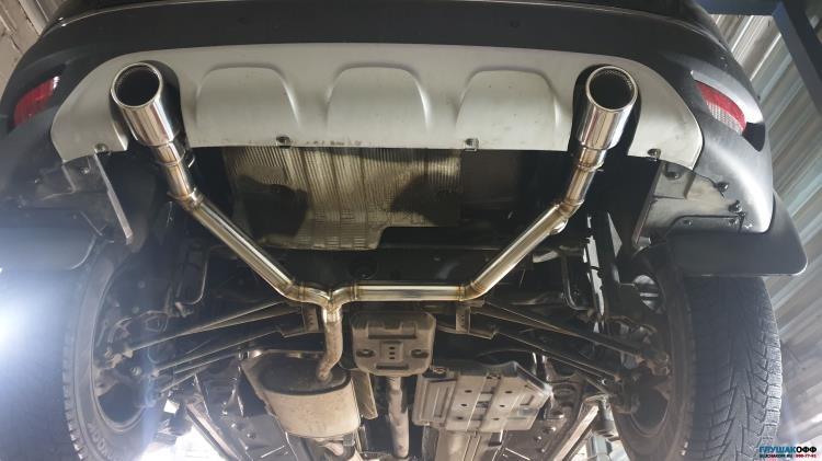Раздвоенный выхлоп на Renault Kaptur ГлушакоФФ СПБ