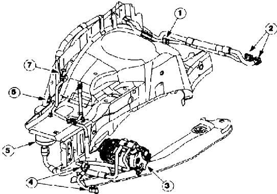 Располагаются в передней части автомобиля: компоненты АС